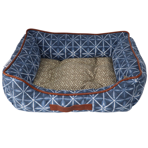 Tommy Bahama Stylish dog bed - Blue batik print: reversible - Yap Wear Store Albert Park | Pet Boutique