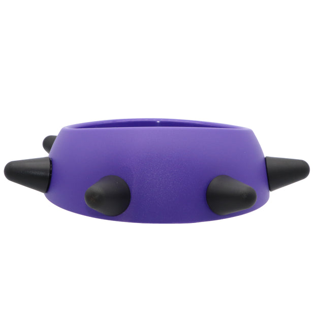 Pet Bowl - Purple bowl with black spiked design