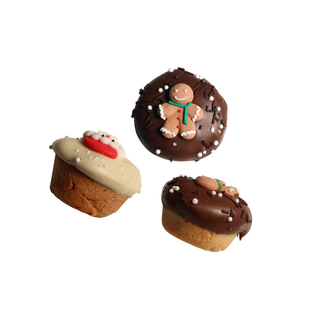 Santa PAWS Xmas Muffins for Dogs: 3pc Gift boxed
