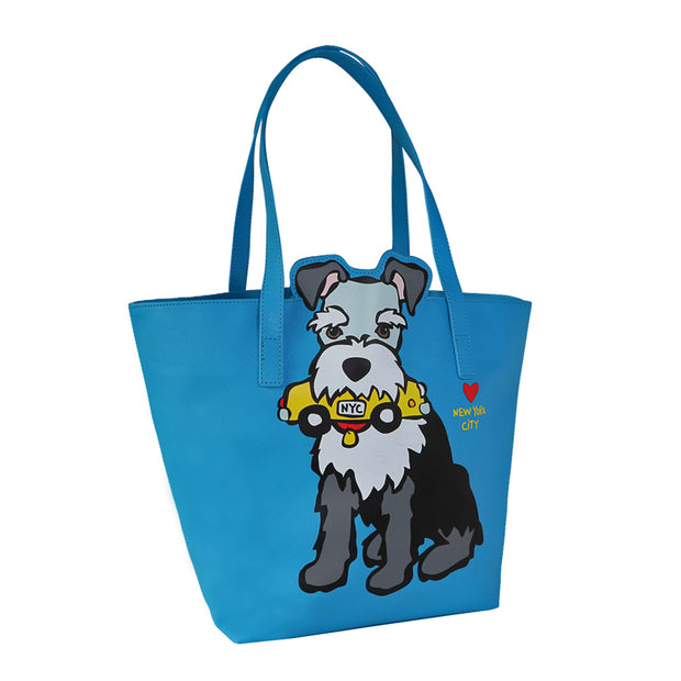 Marc Tetro - Schnauzer large tote bag - Yap Wear Store Albert Park | Pet Boutique