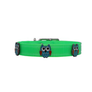 Lime Hydro waterproof collar with Owls - Yap Wear Store Albert Park | Pet Boutique