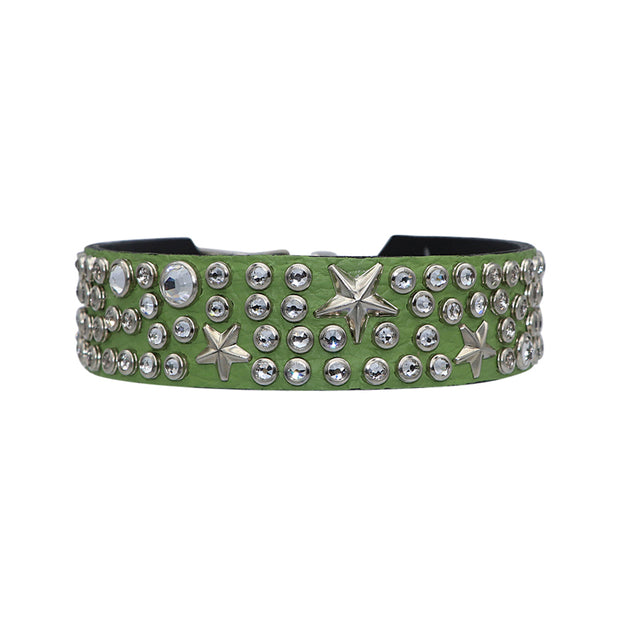Avocado with Swarovski crystals and silver stars - Yap Wear Store Albert Park | Pet Boutique