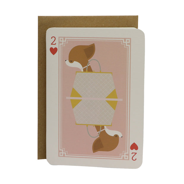 Chihuahua in pearls greeting card - Yap Wear Store Albert Park | Pet Boutique