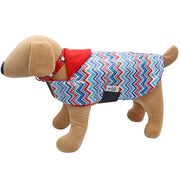 Zig Zag print Dogcoat - waterproof