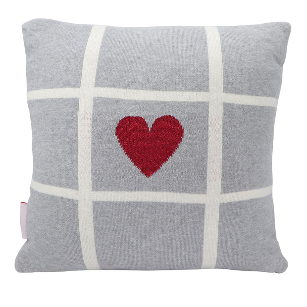 Valentine's Day - Hearts and Crosses Cushion