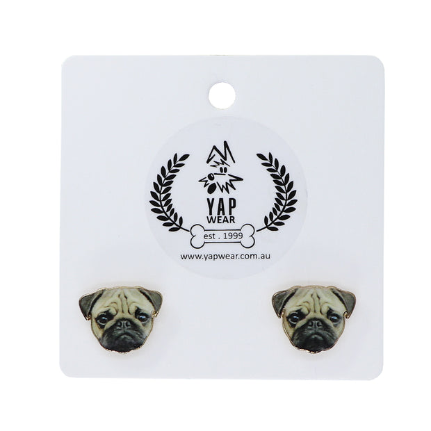 Pug - Ladies Earrings - Yap Wear Store Albert Park | Pet Boutique