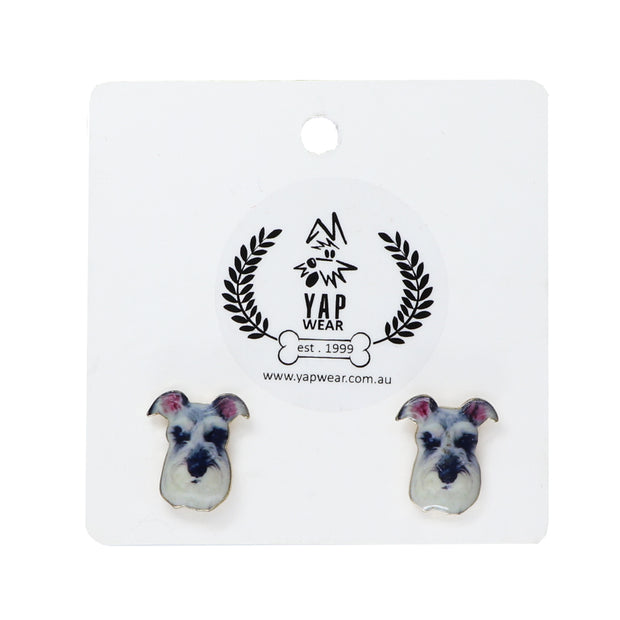 Schnauzer - Ladies Earrings - Yap Wear Store Albert Park | Pet Boutique
