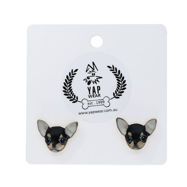 Chihuahua - Ladies Earrings - Yap Wear Store Albert Park | Pet Boutique