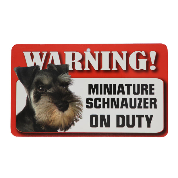 WARNING! Miniature Schnauzer sign - Yap Wear Store Albert Park | Pet Boutique