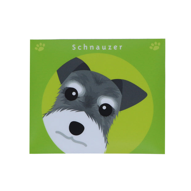 Schnauzer sticker ( lime ) - Yap Wear Store Albert Park | Pet Boutique