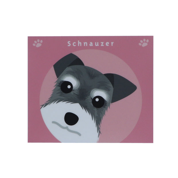Schnauzer sticker ( pink ) - Yap Wear Store Albert Park | Pet Boutique