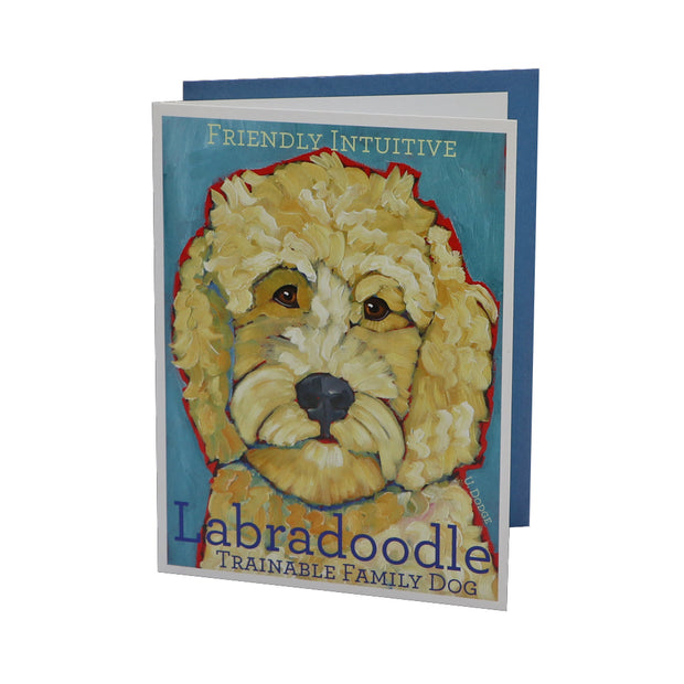 Labradoodle card (blank) - Yap Wear Store Albert Park | Pet Boutique