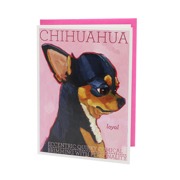Chihuahua card (blank) - Yap Wear Store Albert Park | Pet Boutique