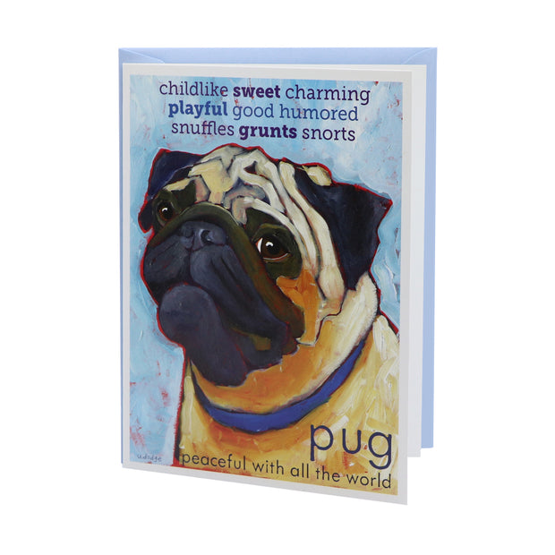 Pug card (blank) - Yap Wear Store Albert Park | Pet Boutique