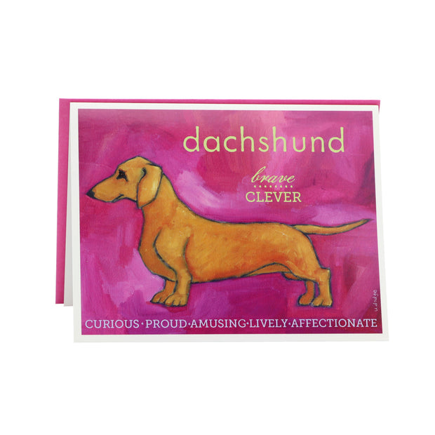 Daschund card (blank) - Yap Wear Store Albert Park | Pet Boutique