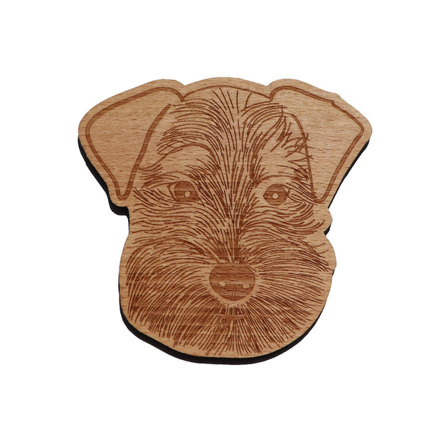 Schnauzer wooden coaster - Brooklyn NY - Yap Wear Store Albert Park | Pet Boutique