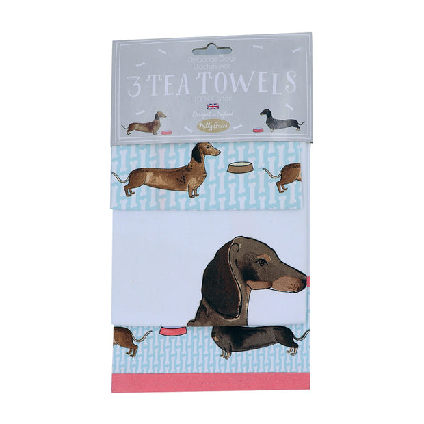 Dachshunds - Set of 3 Tea towels - Yap Wear Store Albert Park | Pet Boutique