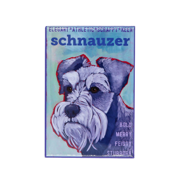 Schnauzer pepper & salt magnet - Yap Wear Store Albert Park | Pet Boutique