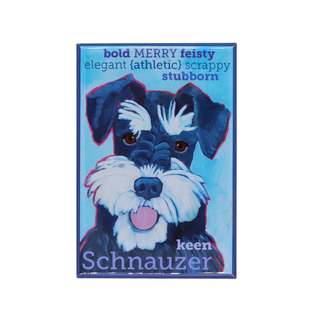 Schnauzer black & silver magnet - Yap Wear Store Albert Park | Pet Boutique
