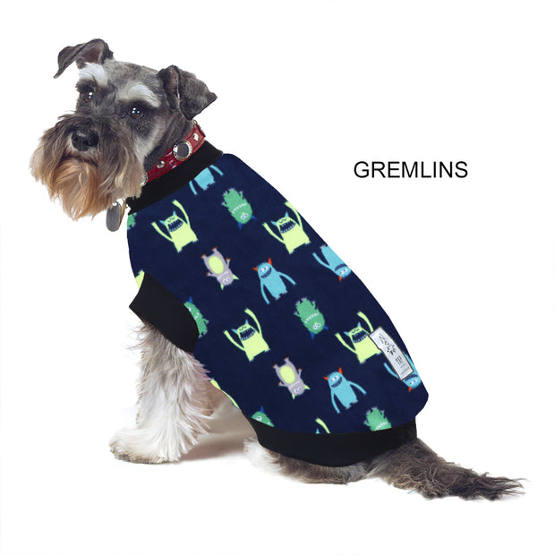 Dog Skivvy -  Gremlins: polar fleece: made in Australia