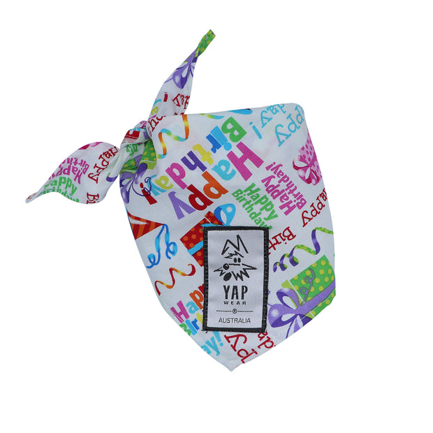 YAPPY Birthday Bandana - Yap Wear Store Albert Park | Pet Boutique