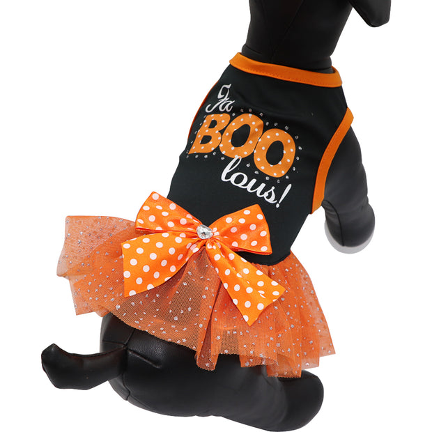 HOWL-O-WEEN 'Fa-BOO-lous' party dress - Yap Wear Store Albert Park | Pet Boutique
