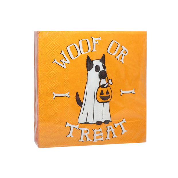 HOWL-O-WEEN  'Woof or Treat' - Cocktail Napkins - Yap Wear Store Albert Park | Pet Boutique