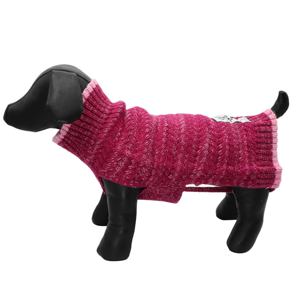 Dog jumper - Pink basket weave - Yap Wear Store Albert Park | Pet Boutique