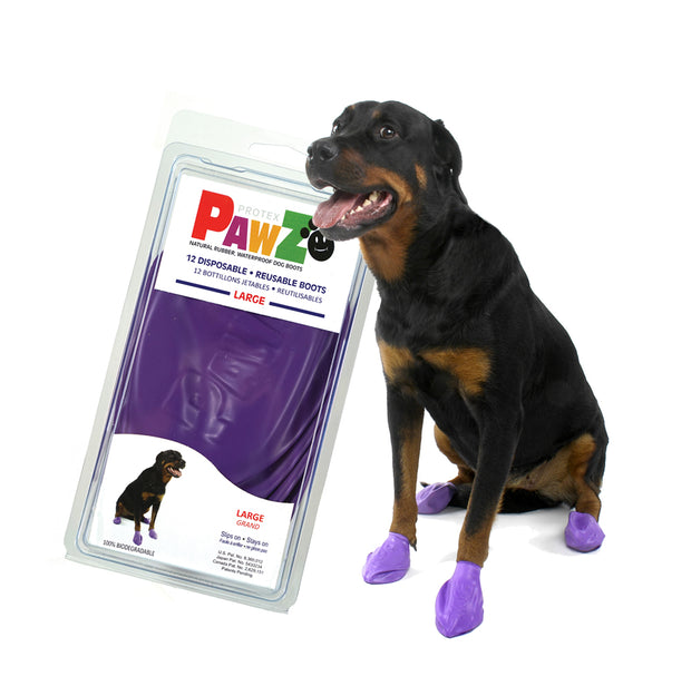 PAWZ Large Rubber Dog Boots -reusable & waterproof. - Yap Wear Store Albert Park | Pet Boutique