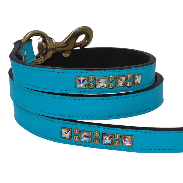 Luxury dog leash - featuring a crystal & brass design - Yap Wear Store Albert Park | Pet Boutique