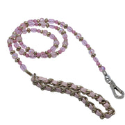 Dog Leash with pink crystals & gold beads - Yap Wear Store Albert Park | Pet Boutique