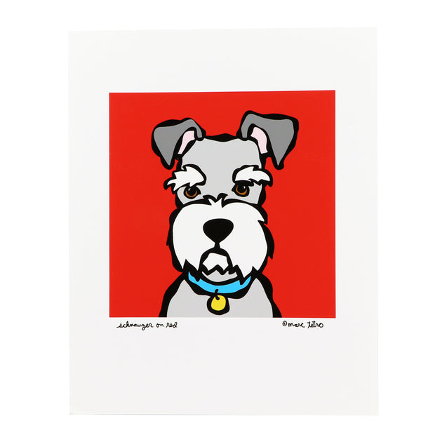 Marc Tetro Schnauzer Print on red - Yap Wear Store Albert Park | Pet Boutique