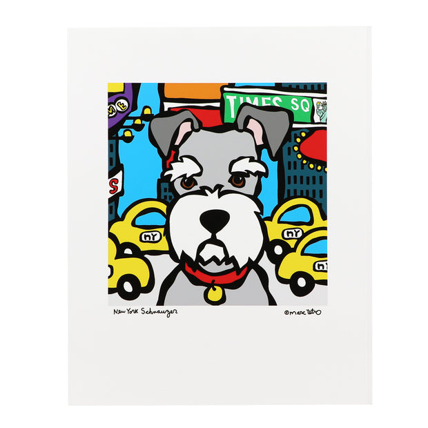 Schnauzer Print - Marc Tetro New York - Yap Wear Store Albert Park | Pet Boutique