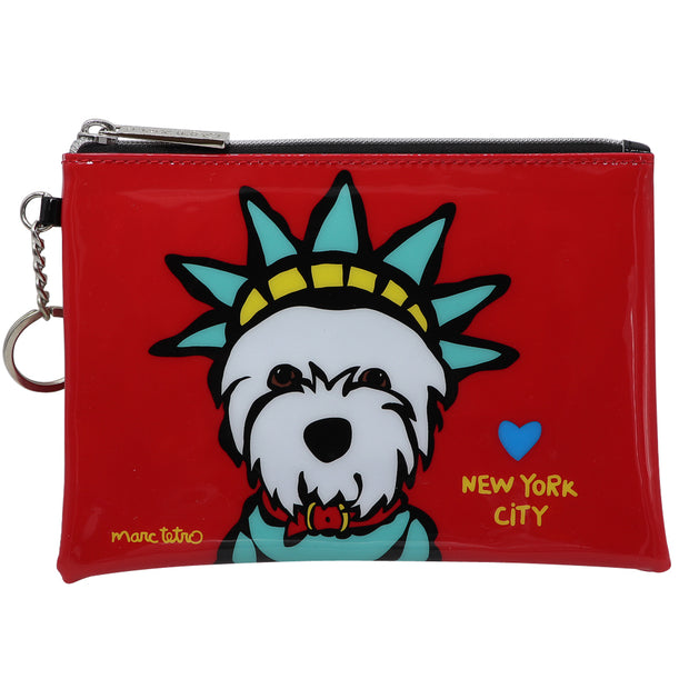 Marc Tetro zip pouch - Westie NYC | Large