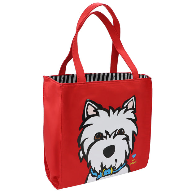 Marc Tetro - White Westie red Tote