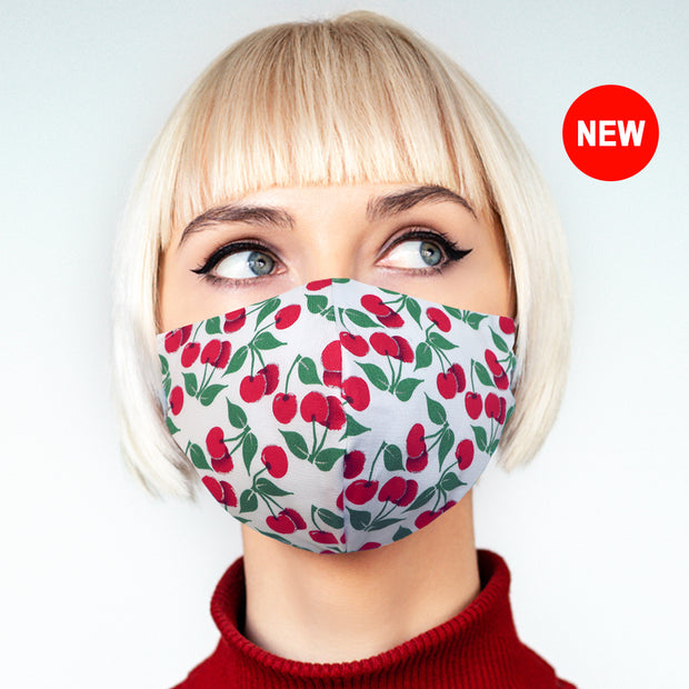 """White Cherry"" face mask - unisex"