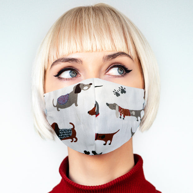 """Puppy Love"" face mask - unisex"
