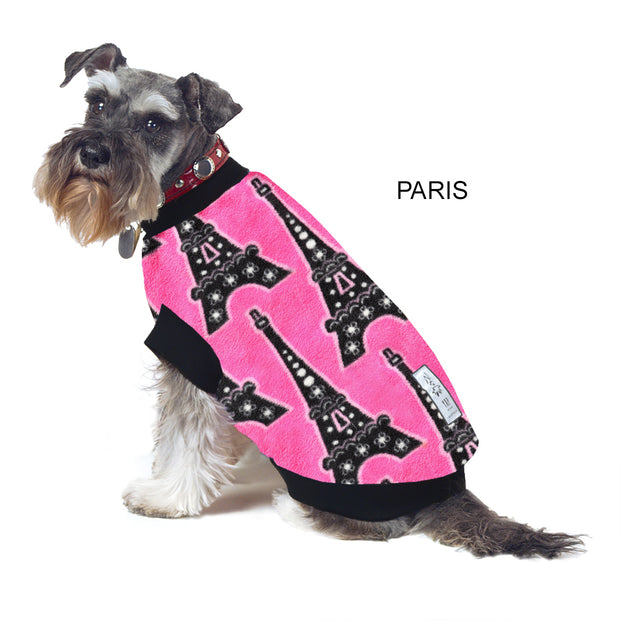 Dog Skivvy - Paris: polar fleece: made in Australia