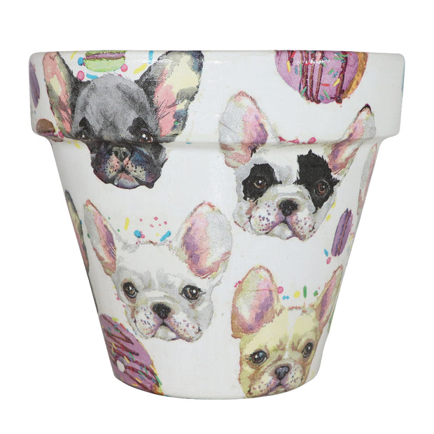 French Bulldog - Handcrafted Flower Pot