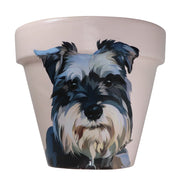 Schnauzer - Handcrafted Flower Pot | Soft Pink