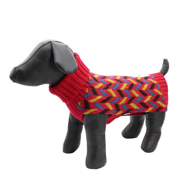 Dog jumper - Pure wool with Zig-zag design - Yap Wear Store Albert Park | Pet Boutique