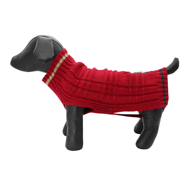 Red jacquard wool knit - Yap Wear Store Albert Park | Pet Boutique