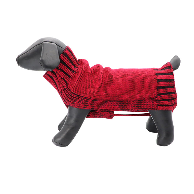 Dog jumper - Two tone jacquard pure wool knit - Yap Wear Store Albert Park | Pet Boutique