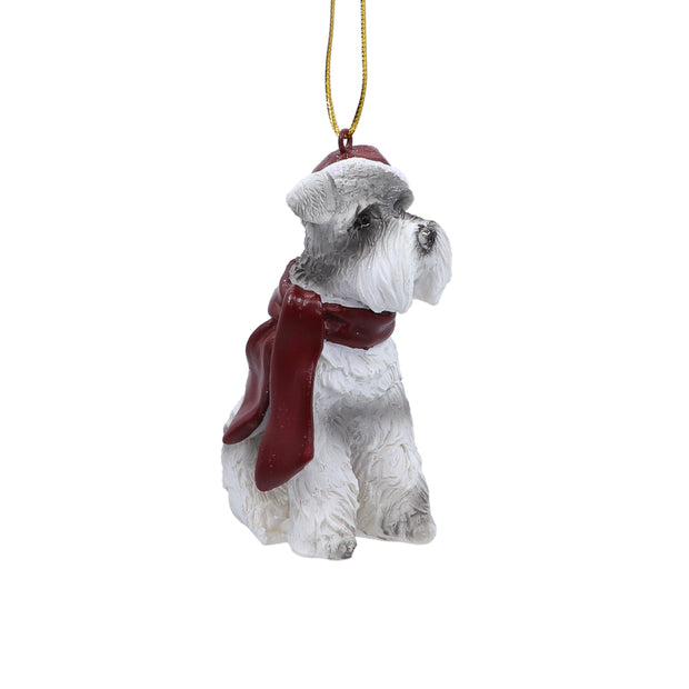 Schnauzer with Red Scarf - Christmas Tree Ornament - Yap Wear Store Albert Park | Pet Boutique
