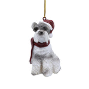 Schnauzer with Red Scarf - Christmas Tree Ornament