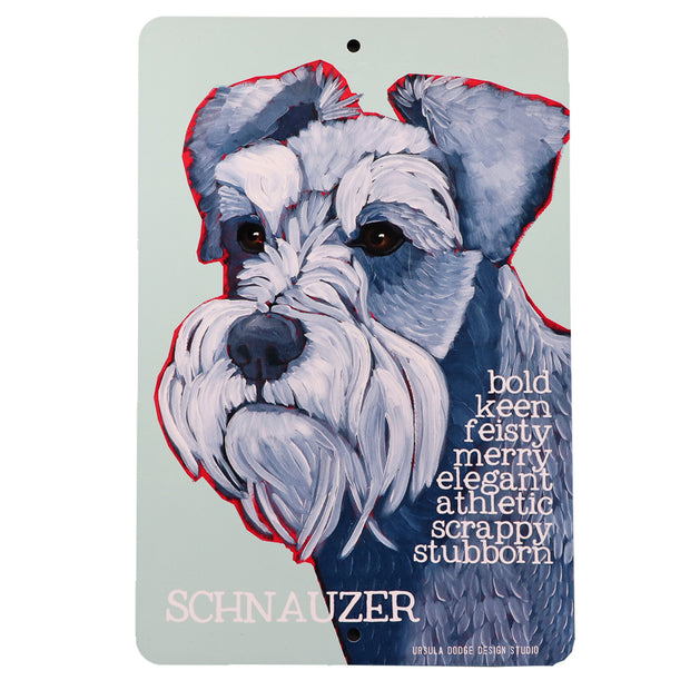 Schnauzer - Bold, Keen, Feisty - Aluminum sign - Yap Wear Store Albert Park | Pet Boutique