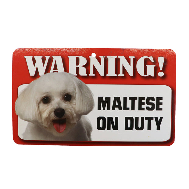 WARNING! Maltese sign