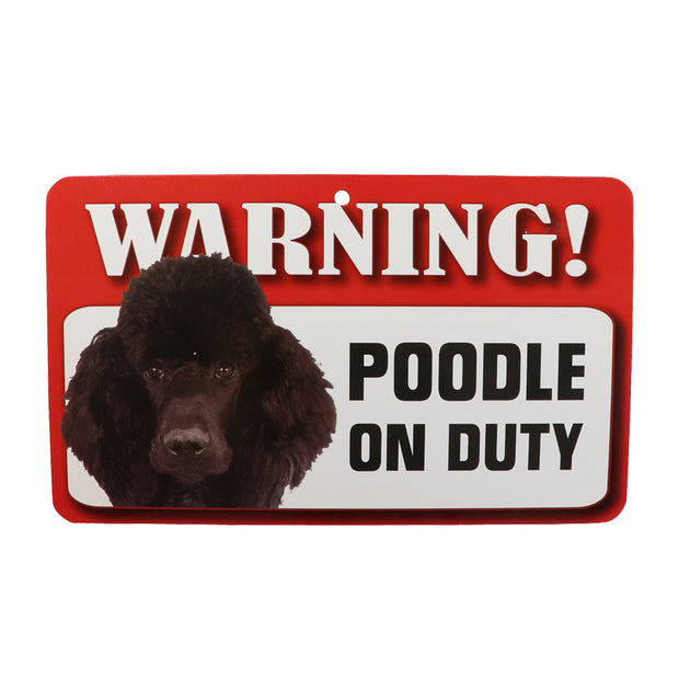 WARNING! Poodle sign