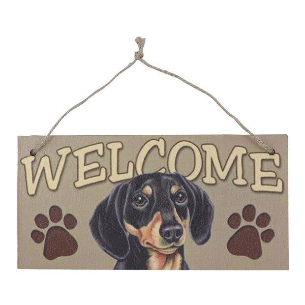 Sign - Dachshund welcome sign