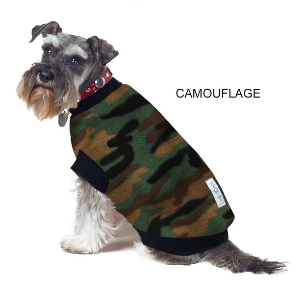 Dog Skivvy - Camouflage Print: anti-pill polar fleece - Yap Wear Store Albert Park | Pet Boutique